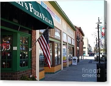 Historic Niles District In California Near Fremont . Main Street . Niles Boulevard . 7d10706 Canvas Print by Wingsdomain Art and Photography