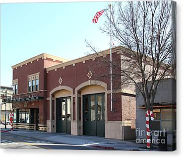 Historic Niles District In California Near Fremont . Niles Fire Station Number 2 . 7d10732 Canvas Print by Wingsdomain Art and Photography