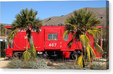Historic Niles District In California Near Fremont . Western Pacific Caboose Train . 7d10614 Canvas Print by Wingsdomain Art and Photography