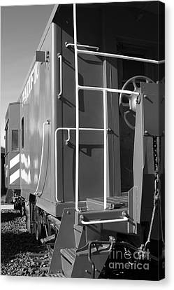 Historic Niles District In California Near Fremont . Western Pacific Caboose Train . 7d10622 . Bw Canvas Print