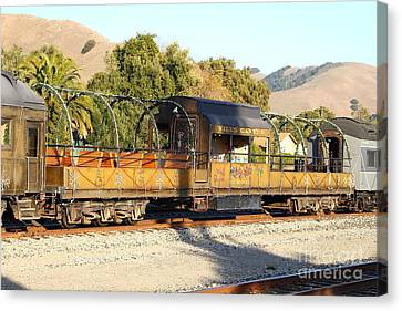 Historic Niles Trains In California . Old Niles Canyon Train . 7d10840 Canvas Print