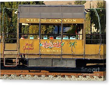 Historic Niles Trains In California . Old Niles Canyon Train . 7d10844 Canvas Print