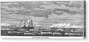Hms Challenger, 1874 Canvas Print by Granger