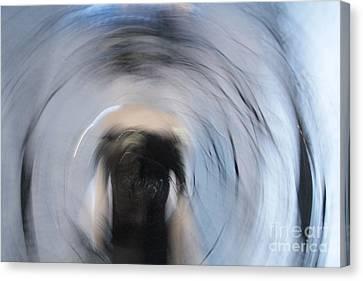 Canvas Print featuring the digital art Ho Head Woman by Danica Radman