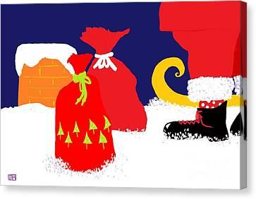 Ho Ho Ho Canvas Print by Barbara Moignard