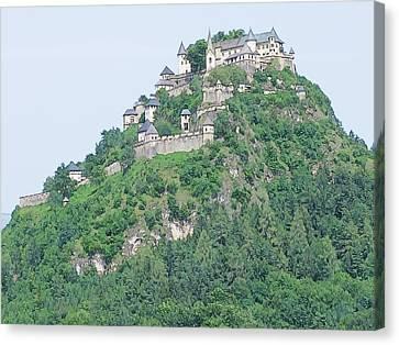 Canvas Print featuring the photograph Hochosterwitz Castle Austria by Joseph Hendrix