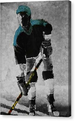 Hockey Dude Canvas Print by Kenneth Drylie