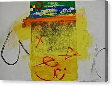 Hockey Glyphs  Canvas Print by Cliff Spohn