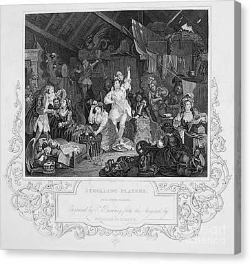 Hogarth: Actresses Canvas Print by Granger