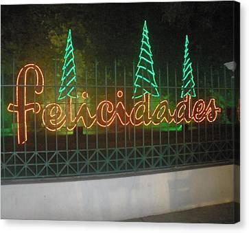 Holiday Greetings Canvas Print by Maria Medina