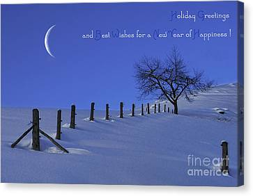 Holiday Greetings Canvas Print by Sabine Jacobs