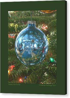 Holiday Self Portrait Canvas Print by Patricia Overmoyer