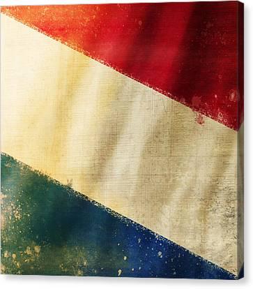 Holland Flag Canvas Print by Setsiri Silapasuwanchai