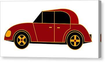 Hollande's Beach Car - Virtual Car Canvas Print by Asbjorn Lonvig