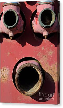 Hollow Face Canvas Print by Luke Moore