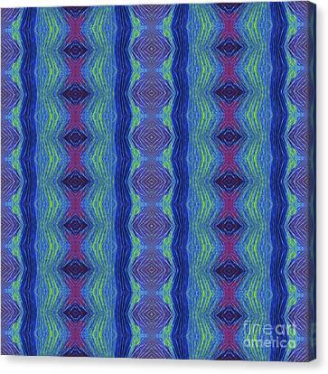 Diamonds In The Blue Canvas Print by Sue Duda