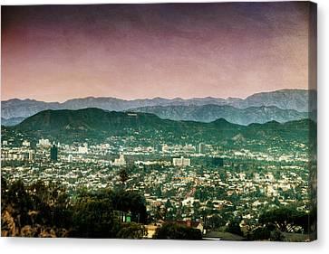 Hollywood At Sunset Canvas Print by Natasha Bishop