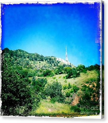 Canvas Print featuring the photograph Hollywood by Nina Prommer