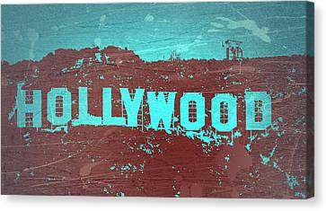 Hollywood Sign Canvas Print by Naxart Studio