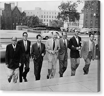Hollywood Writers Go On Trial. Seven Canvas Print by Everett