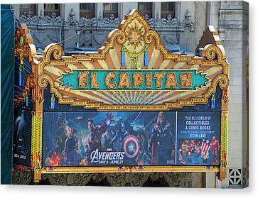 Hollywood's El Capitan Theatre Canvas Print