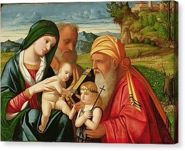 Holy Family With St. Simeon And John The Baptist Canvas Print