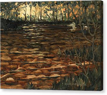 Canvas Print featuring the painting Homage To The Sun by Kurt Jacobson