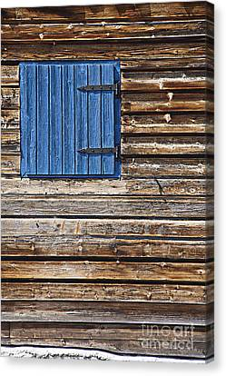 Cabin Window Canvas Print - Home - Sweet Home by Heiko Koehrer-Wagner