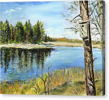 Home At Dragonfly Pond Canvas Print