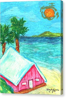 Home By Shore Canvas Print by William Depaula