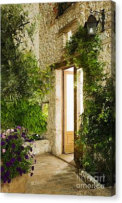Home Entrance And Courtyard Canvas Print by Andersen Ross