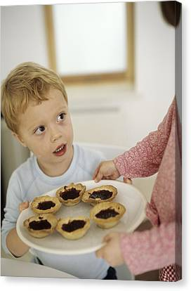 Home-made Jam Tarts Canvas Print by Ian Boddy