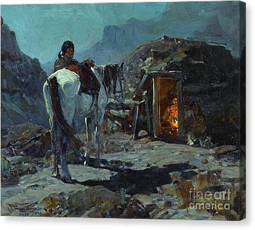 Home Of The Navajo Canvas Print by Pg Reproductions