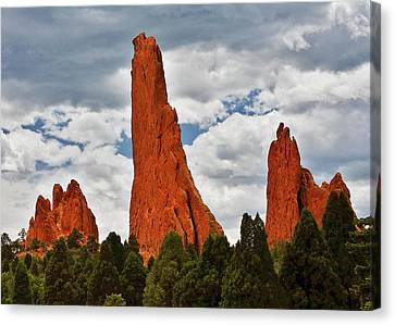 Home Of The Weather God - Garden Of The Gods - Colorado City Canvas Print by Christine Till