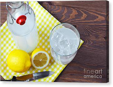 Stopper Canvas Print - Homemade Traditional Lemonade. by Richard Thomas