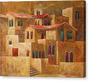 Homes Canvas Print by Adeeb Atwan