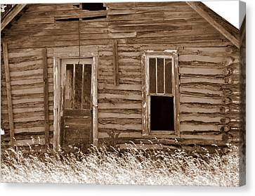 Homestead Past Canvas Print by Marty Koch