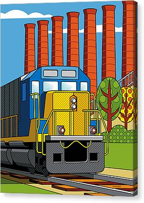 Homestead Stacks Canvas Print by Ron Magnes