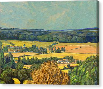 Hommage To Vincent Van Gogh - Zuid Limburg Canvas Print by Nop Briex