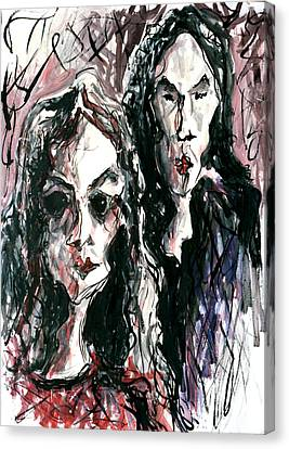 Homoline #36. Two Figures Canvas Print