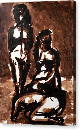 Homotrace #27. Three Figures Canvas Print