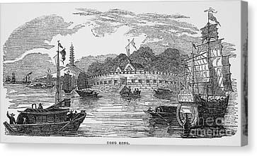 Hong Kong: Harbor, 1842 Canvas Print by Granger
