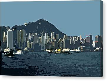 Architectur Canvas Print - Hong Kong Island ... by Juergen Weiss