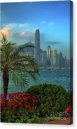 Hong Kong Mornings Canvas Print by Bibhash Chaudhuri