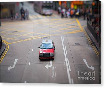 Hong Kong Taxicab Canvas Print by Ei Katsumata