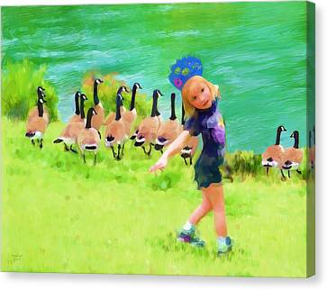 Honker Ballet Princess Canvas Print by Cindy Wright