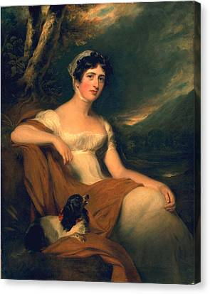 Honorable Emma Cunliffe Later Emma Cunliffe-offley Canvas Print by Thomas Lawrence