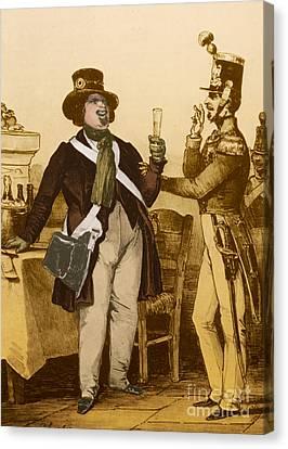 Balzac Canvas Print - Honore De Balzac, French Author by Photo Researchers