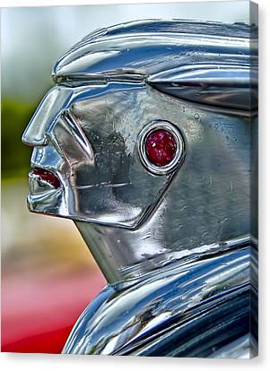 Hood Ornament Canvas Print by Nancie Rowan