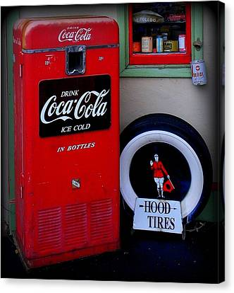 Hood Tires Cocacola Canvas Print by Randall Weidner